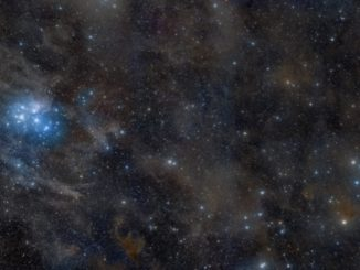 The Pleiades Star Cluster In Taurus