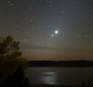 Mars, Jupiter, and Venus