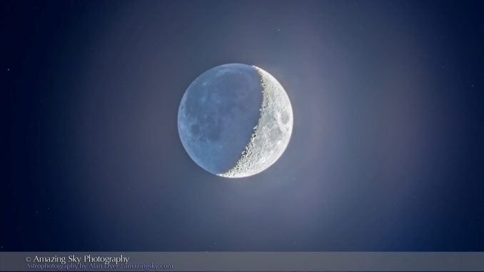 Crescent Moon with Earthshine