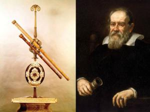 Galileo and his telescope