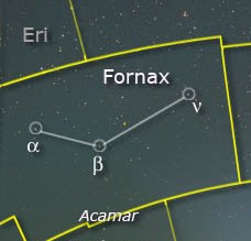 Fornax Constellation Stars