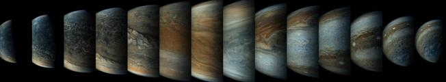 Jupiter composite by Juno probe