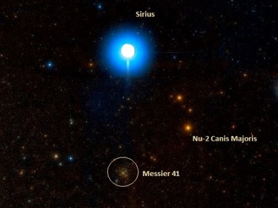 Messier 41 and Sirius