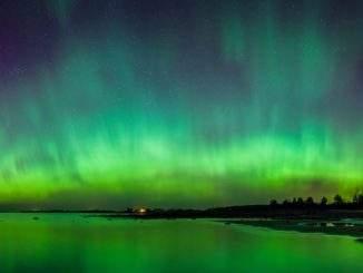 Aurora over Varbla in Finland